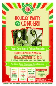 FFOTM Holiday Party and Concert featuring Anam Cara Dixon & Tristan Scroggins @ Firecreek Coffee Company | Flagstaff | Arizona | United States