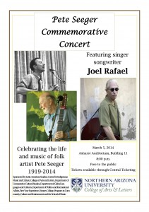 Pete Seeger Commemorative Concert Featuring JOEL RAFAEL @ Ashurst Auditorium, Northern Arizona University