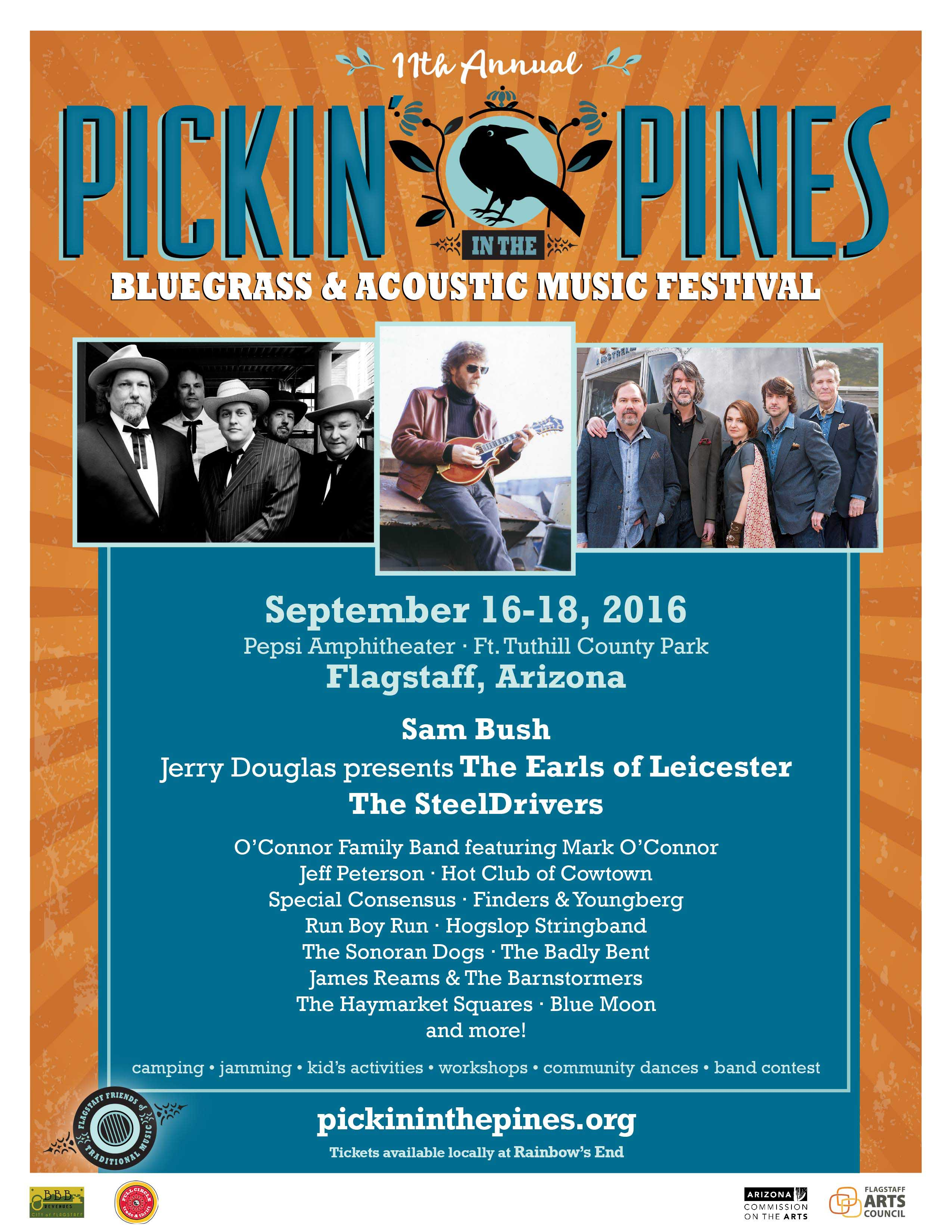 Pickin' In The Pines 2016 Lineup & Tickets
