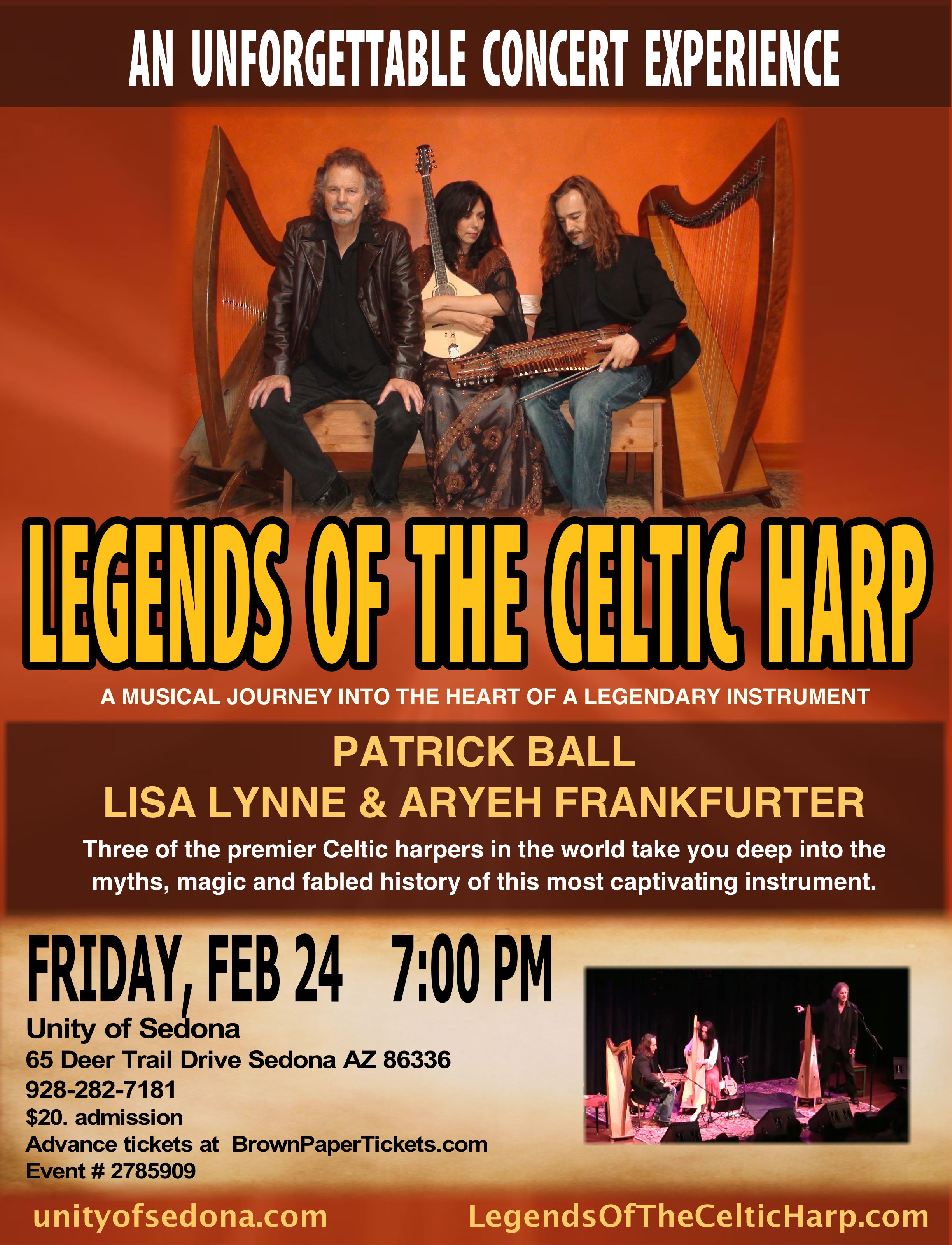 Legends Of The Celtic Harp With Patrick Ball, Lisa Lynne & Aryeh Frankfurter