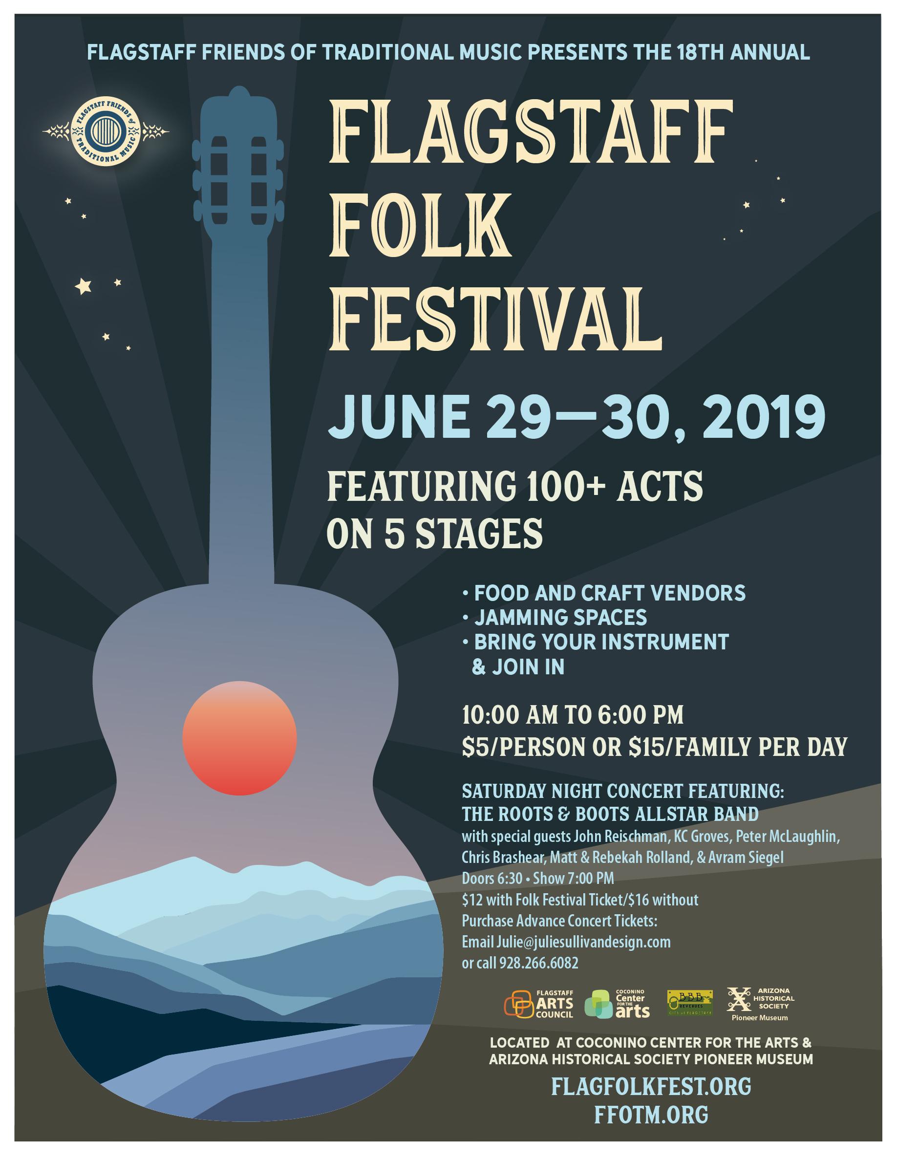 Flagstaff Folk Festival 2019 Poster